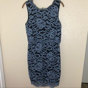 Ivanka Trump Lace Double Layer Dress